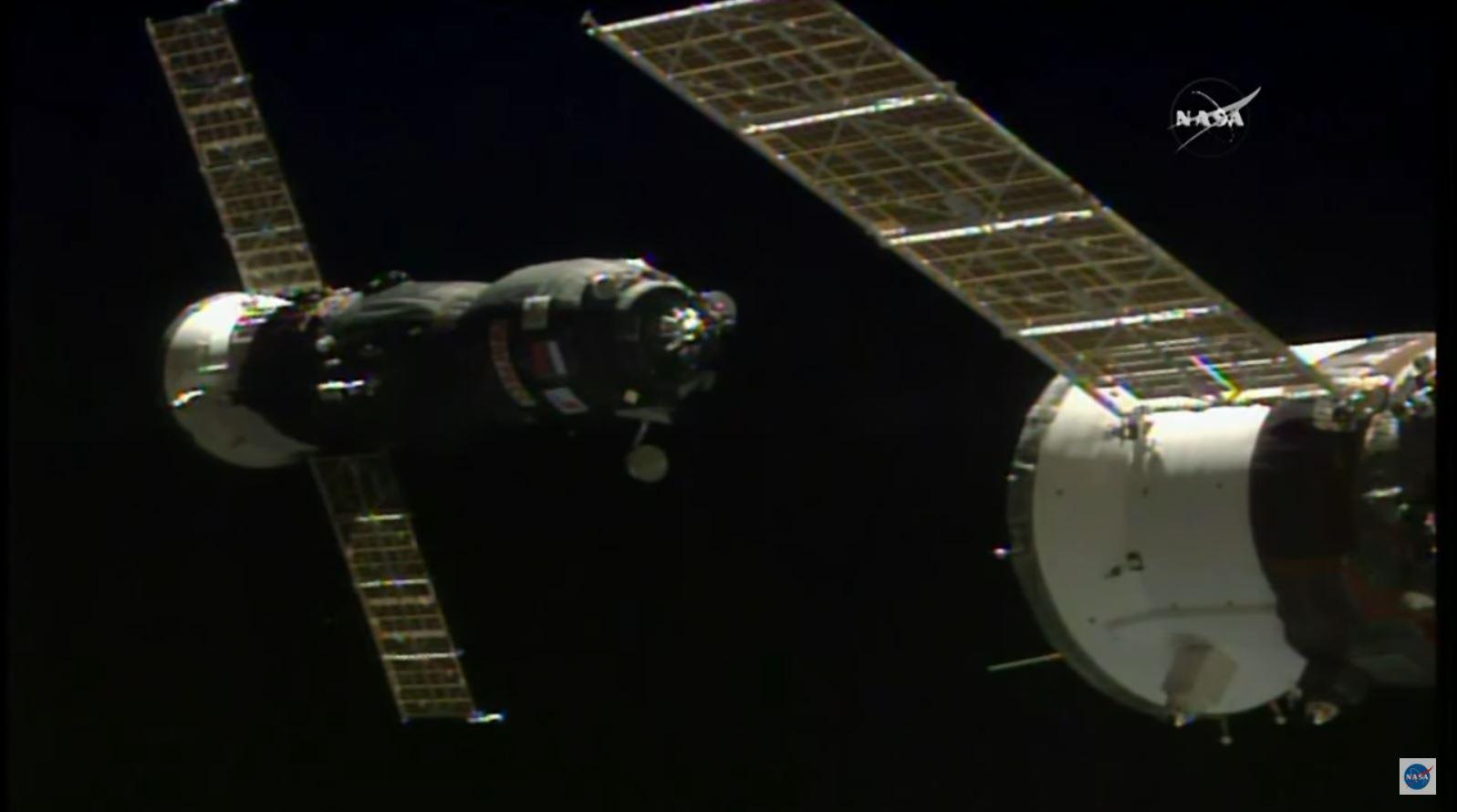 Russian Progress 66 Cargo Ship Docks at Space Station