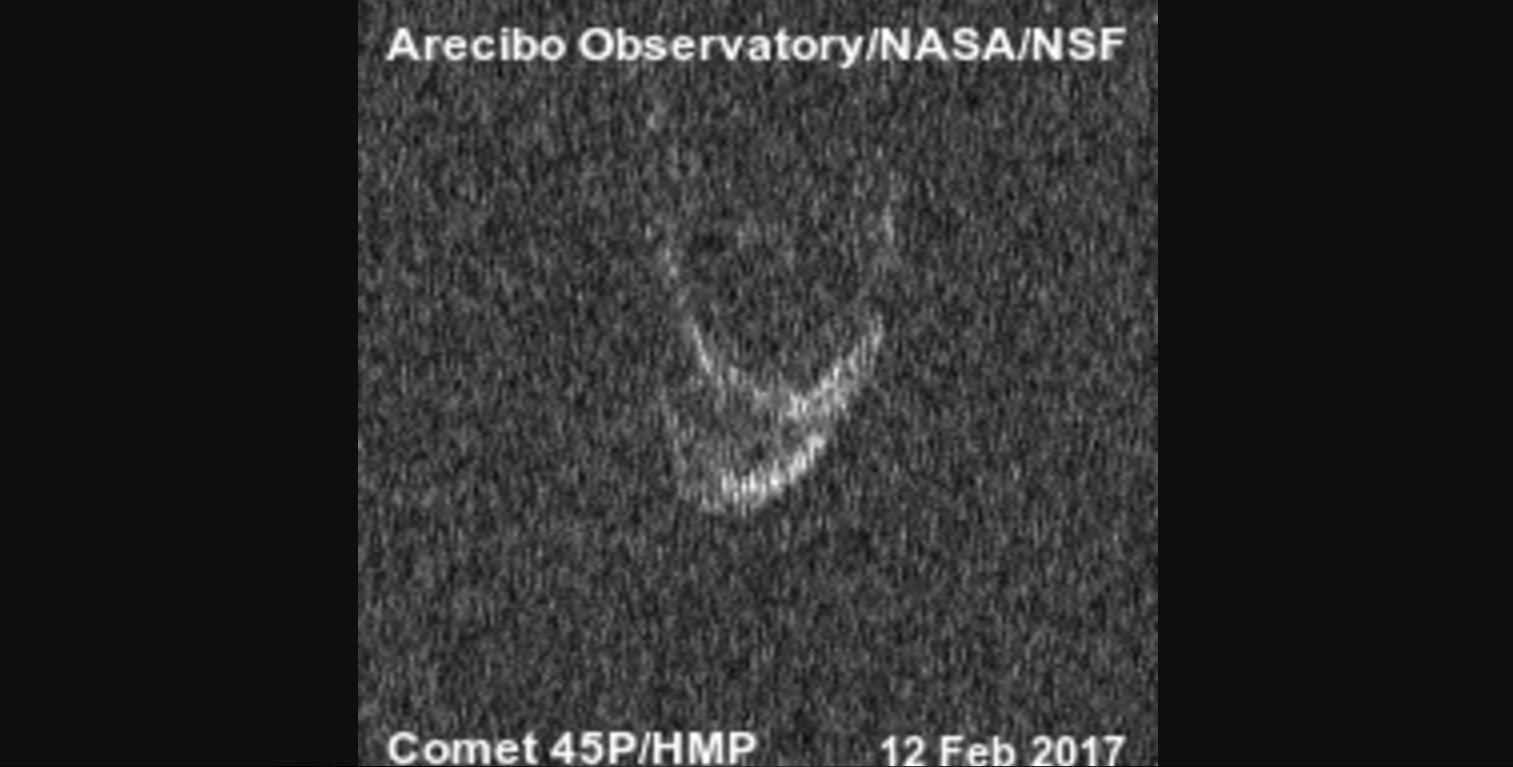 Nearby Comet Has a Big Heart, Radar Reveals