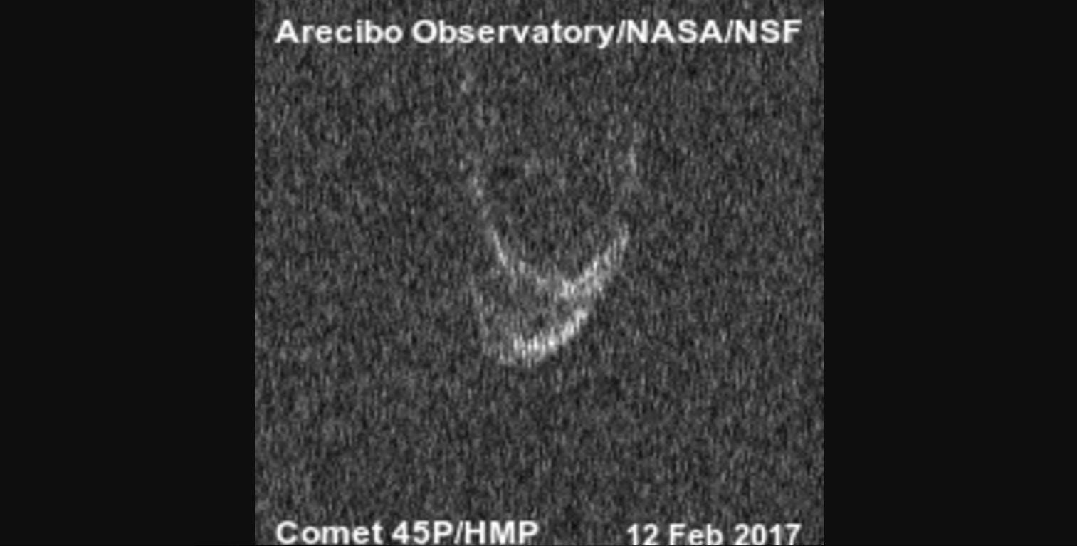 Nearby Comet Has a Big Heart, Radar Reveals