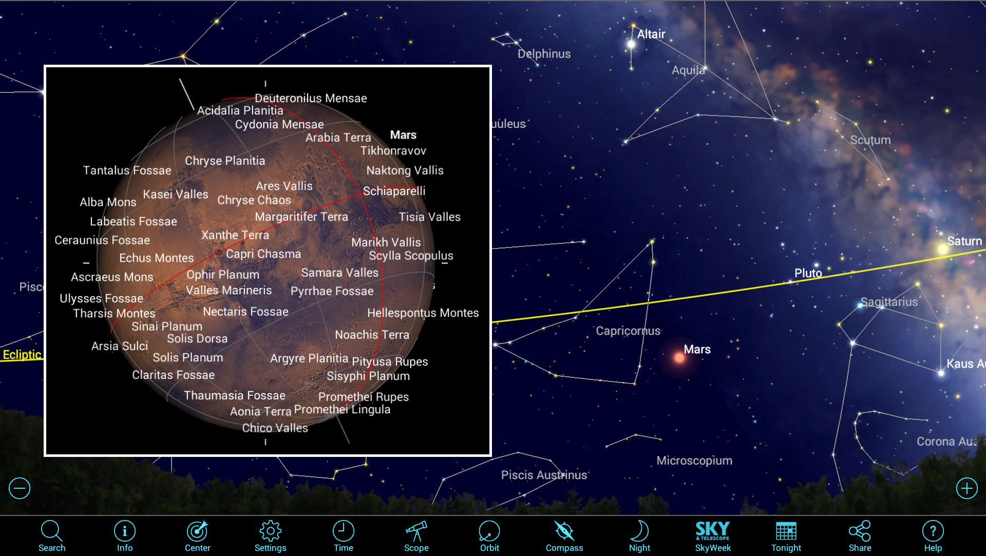 Previewing 2018s Year of Spectacular Mars Using Mobile Apps
