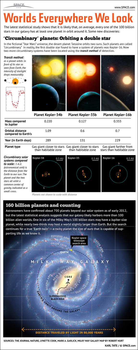 160 billion alien planets fill our galaxy in this SPACE.com infographic.