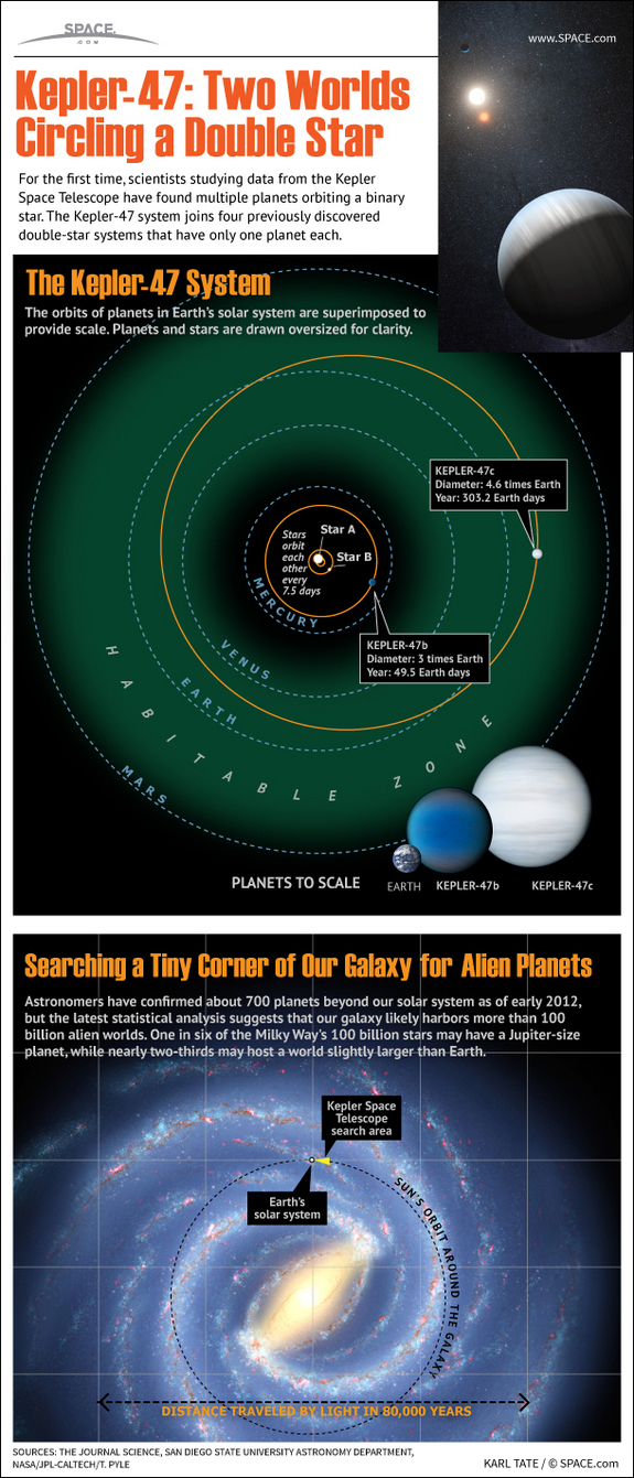Find out about the pair of planets found orbiting a distant binary star system in this SPACE.com infographic.