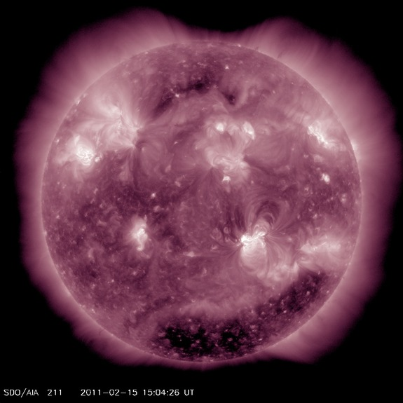 An X2.2 flare erupted from the sun